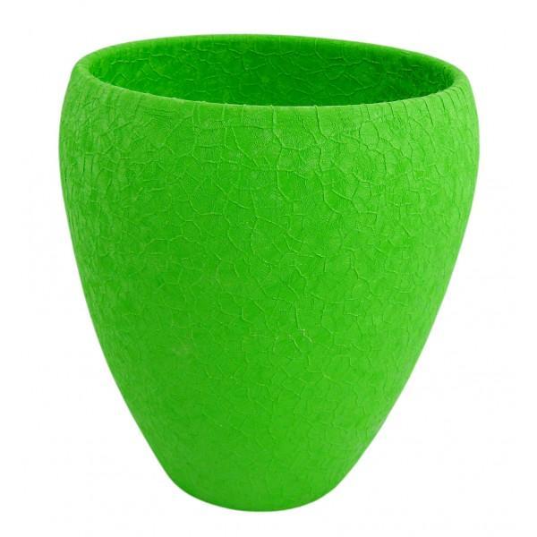 Osłonka Lizard Doniczka Ceramiczna Do Storczyków Zielona